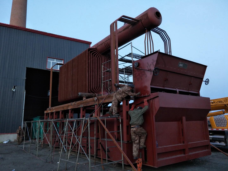 20吨锅炉安装现场